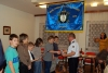 Předávání ocenění - mladým hasičům a jejich vedoucímu.